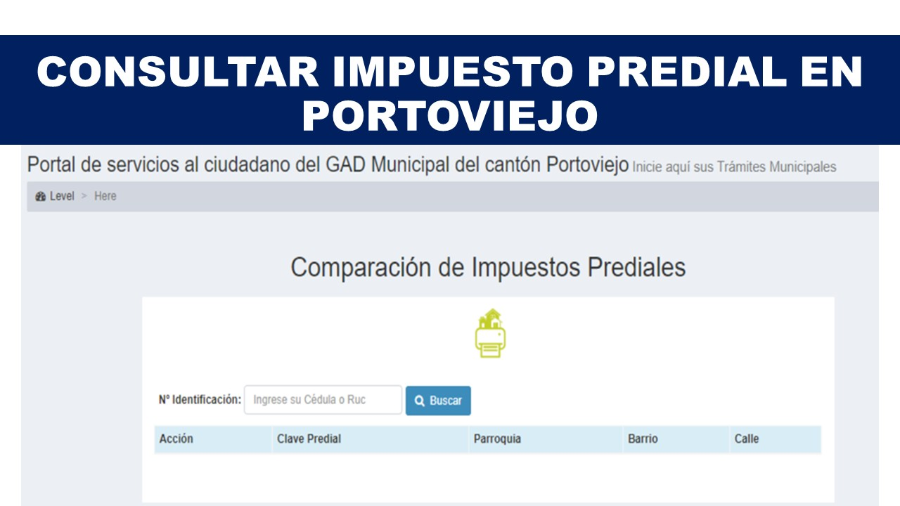 Consultar Impuesto Predial en Portoviejo