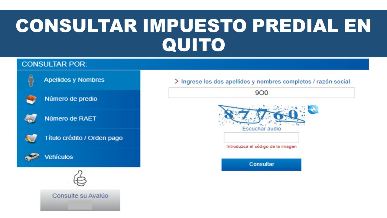 Consultar Impuesto Predial en Quito