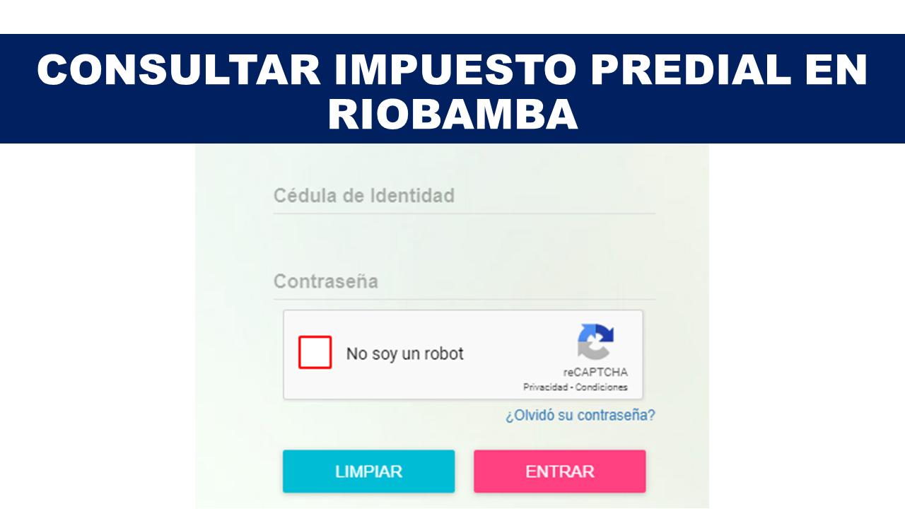 Consultar Impuesto Predial en Riobamba