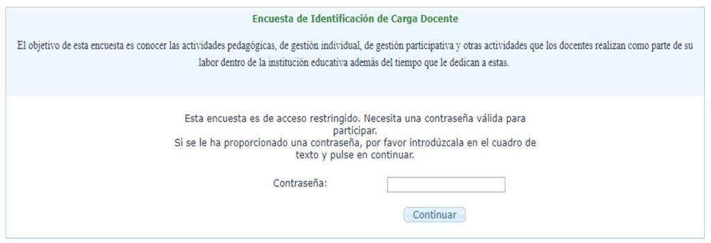 Encuesta de Identificación de Carga Docente