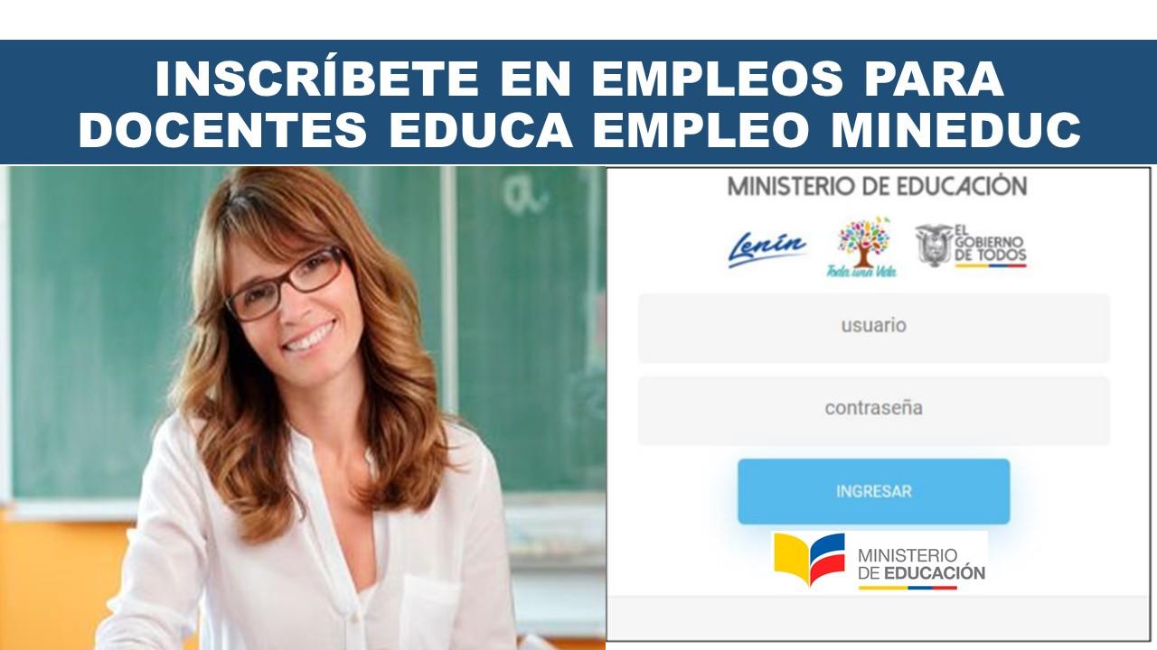 Empleo para Docentes Educa Empleo Mineduc