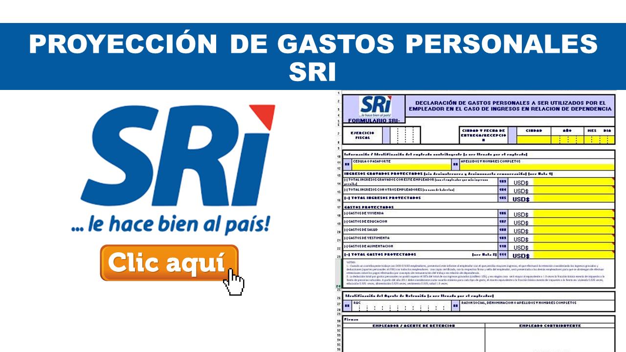 Proyección de Gastos Personales SRI Ecuador
