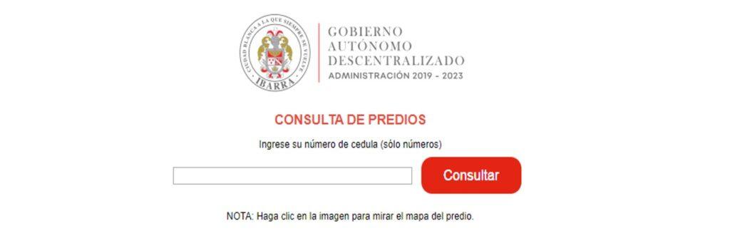 Consultar Impuesto Predial en Ibarra