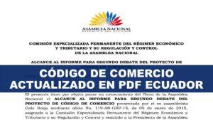Código de Comercio actualizado en PDF Ecuador
