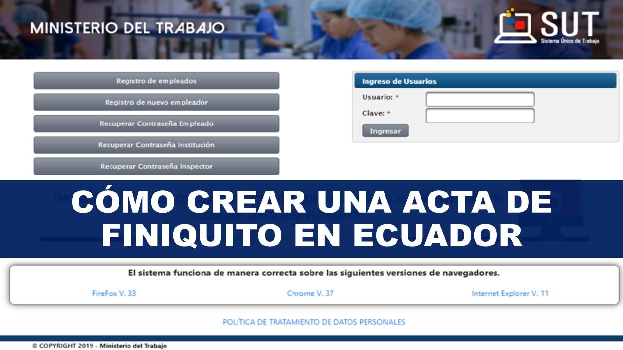 Como Crear una Acta de Finiquito en Ecuador