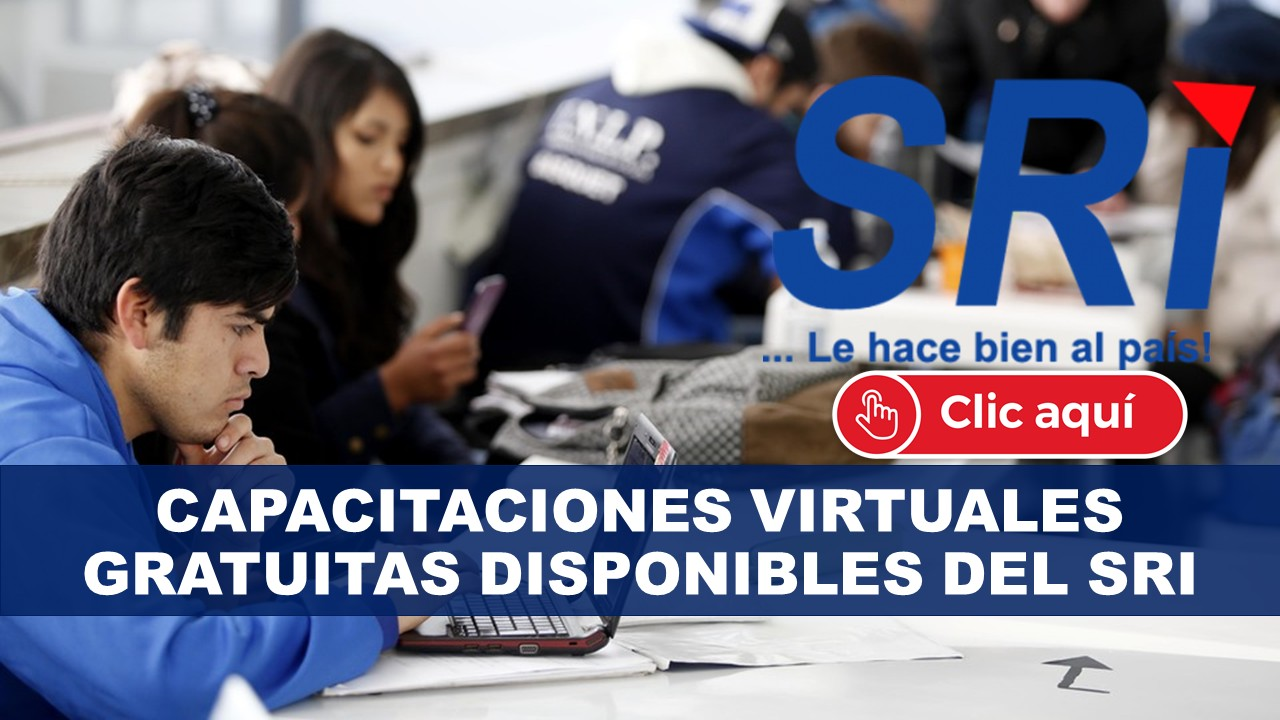 Capacitaciones Virtuales Gratuitas Disponibles del SRI