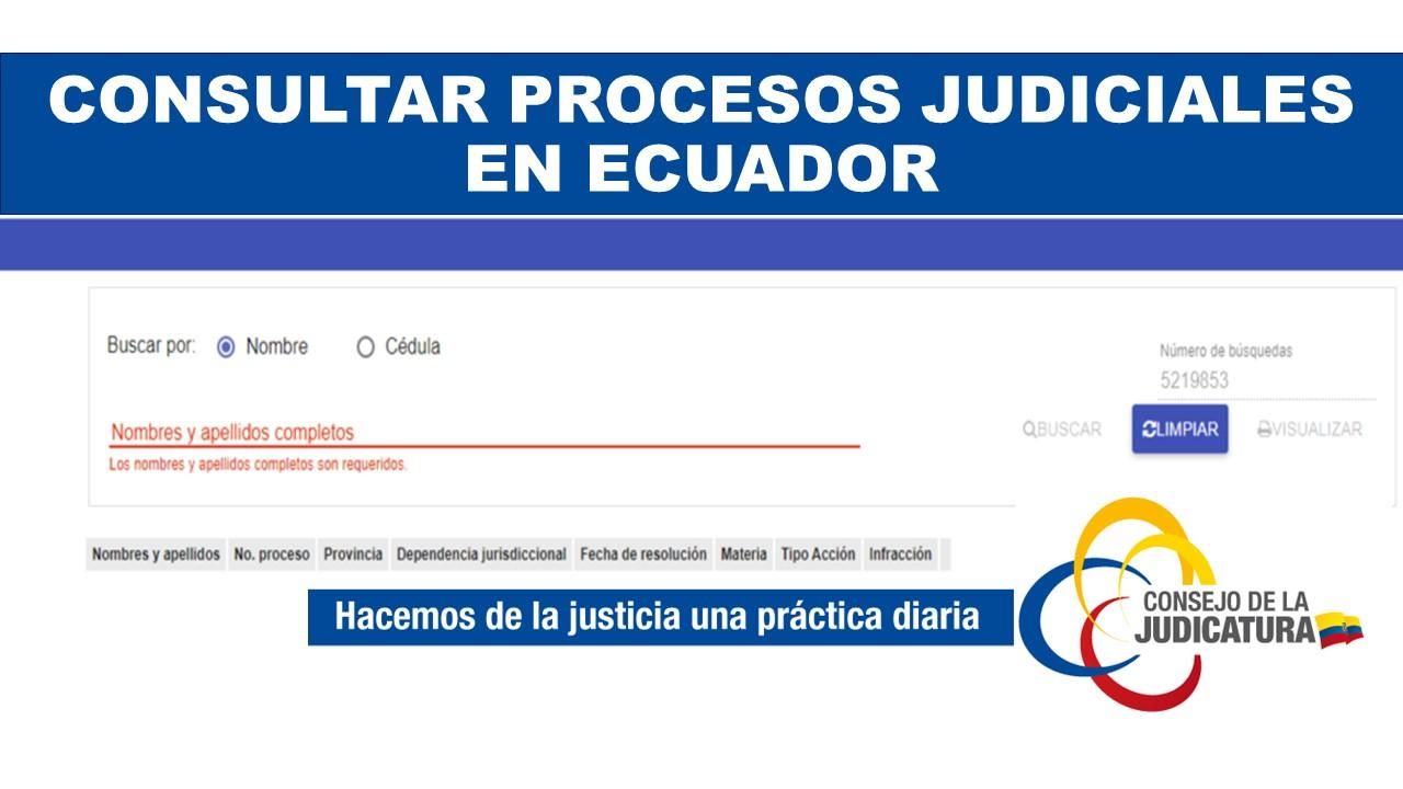Consultar Procesos Judiciales en Ecuador