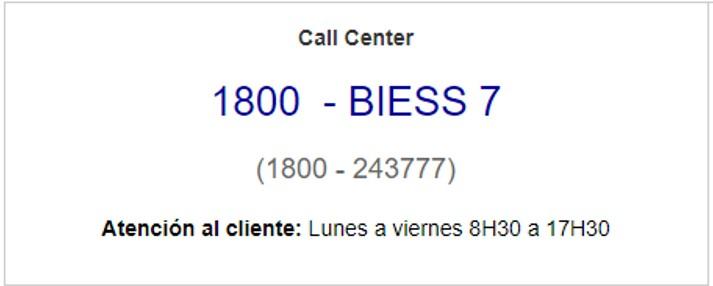 Contactos del Biess