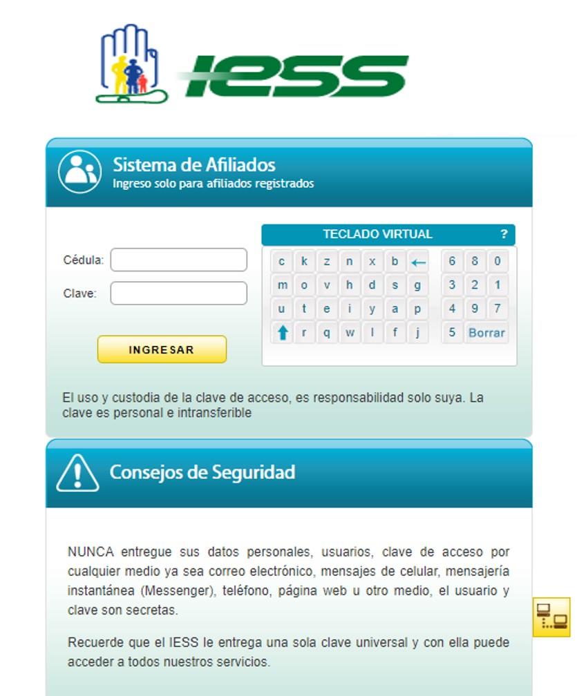 Registrar cuentas bancarias en el IESS