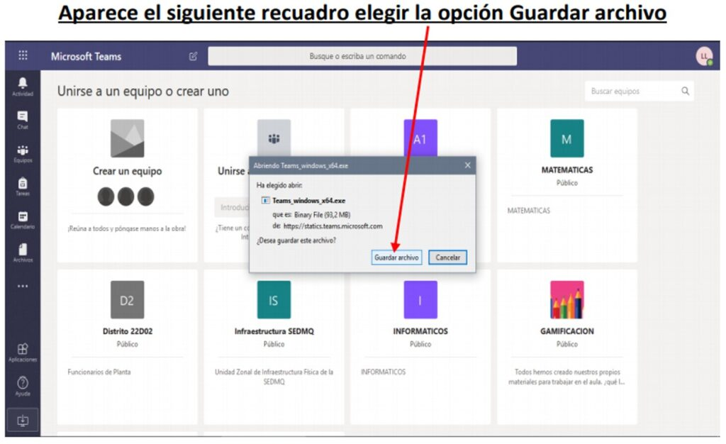 Aplicativo TEAMS para teletrabajo de Docentes en ECUADOR