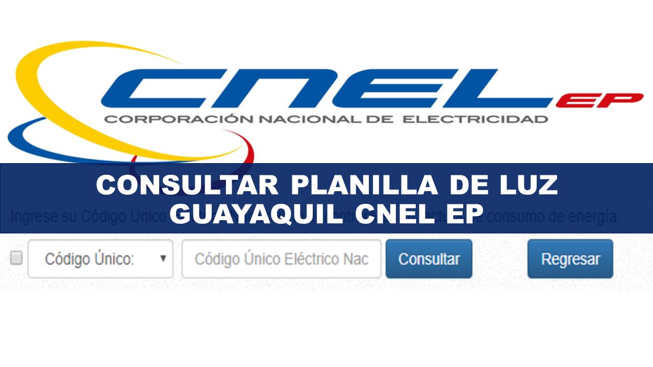 Consultar Planilla de luz Guayaquil CNEL EP
