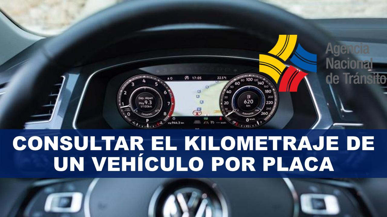 Consultar el kilometraje de un vehículo por placa