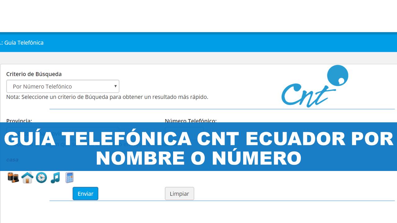 Guía telefónica CNT Ecuador por nombre o número