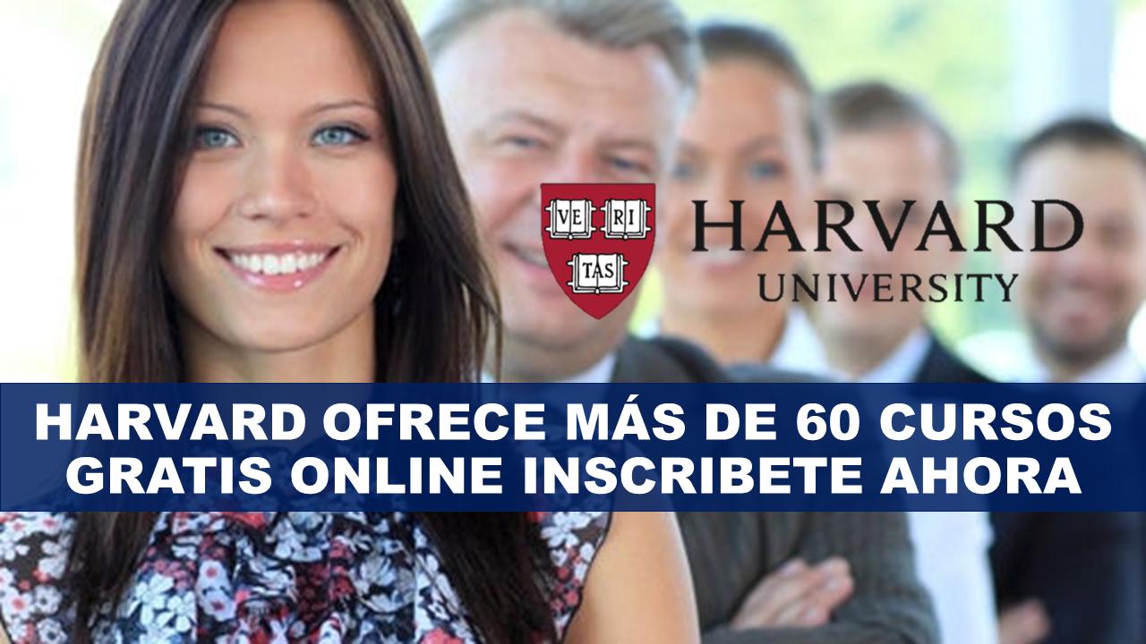 Harvard ofrece más de 60 cursos gratis online