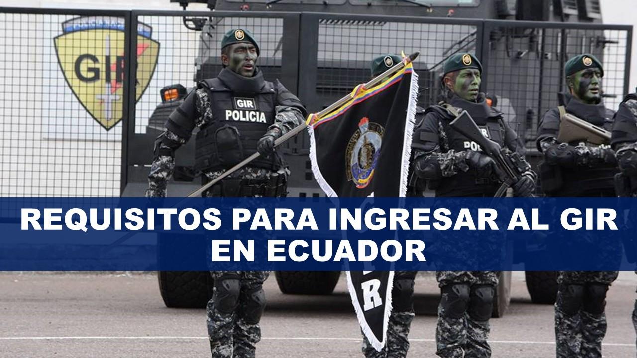 Requisitos para ingresar al GIR en Ecuador