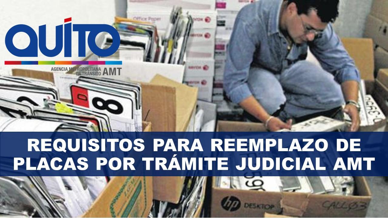 Requisitos para reemplazo de placas por trámite judicial AMT