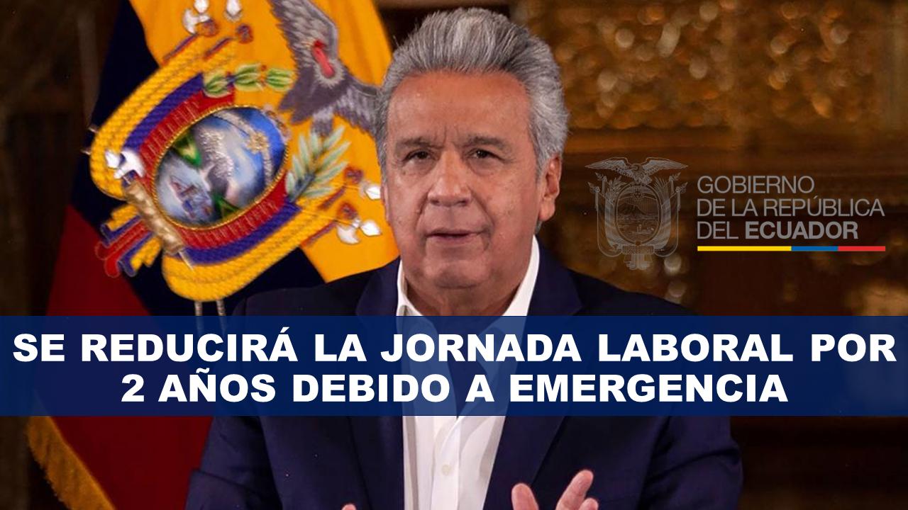 Se reducirá la jornada laboral por 2 años por emergencia