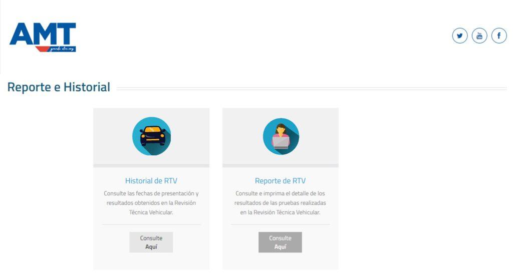 Consultar reporte e historial de RTV AMT Ecuador