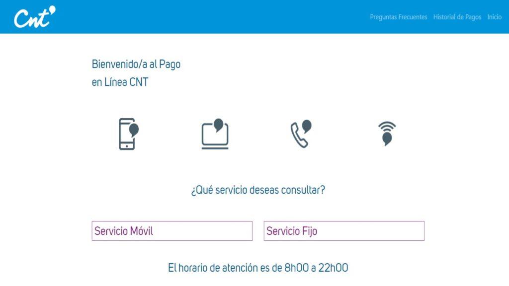 Consultar valor a pagar CNT teléfono celular internet