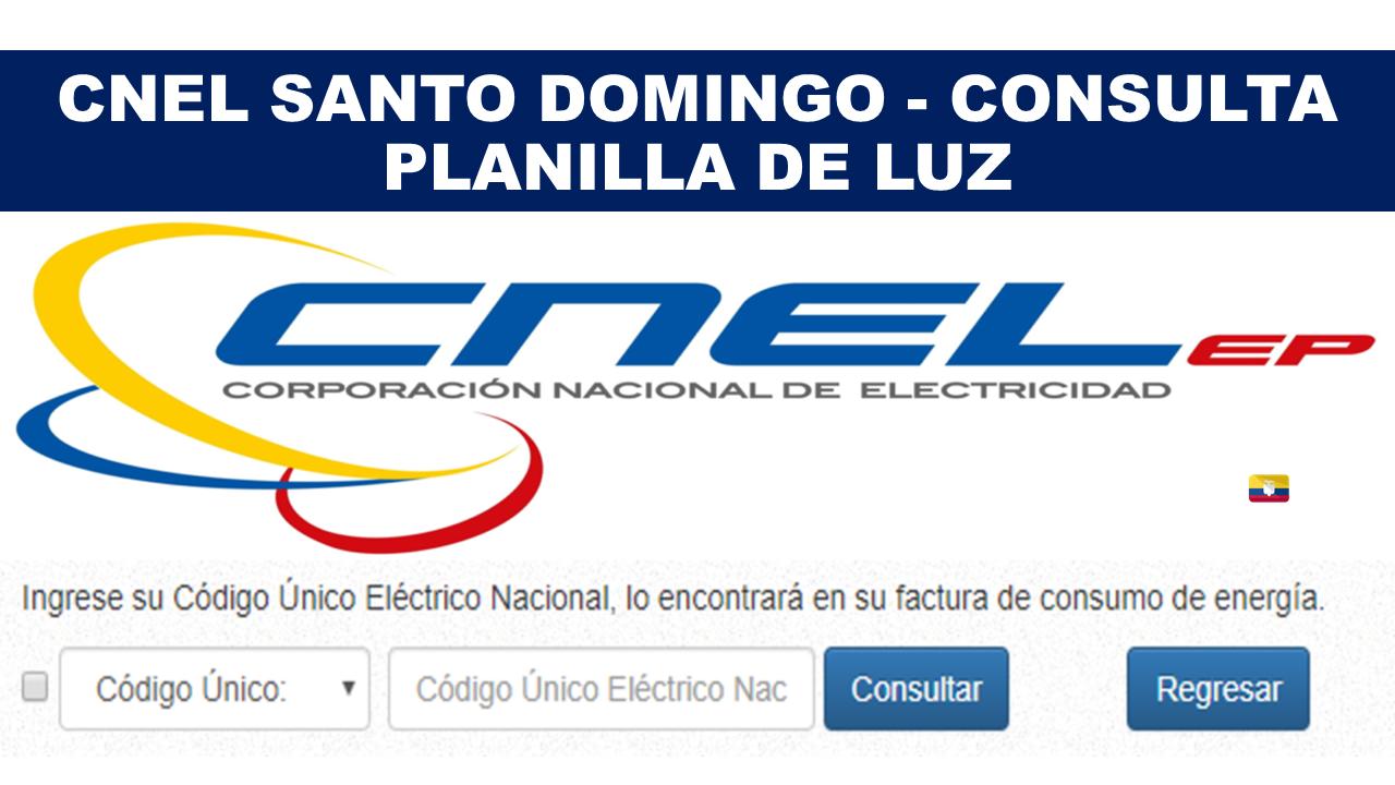 CNEL Santo Domingo - Consulta planilla de luz