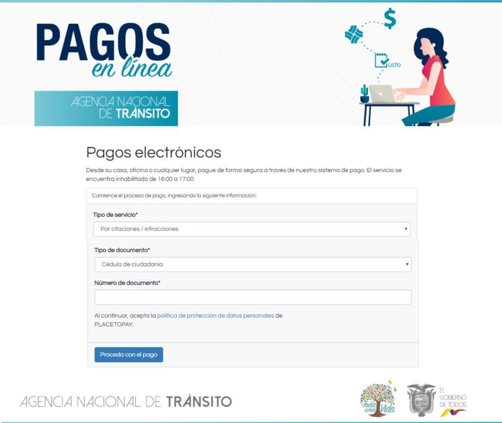 ¿Cómo pagar multas de tránsito ant Ecuador?