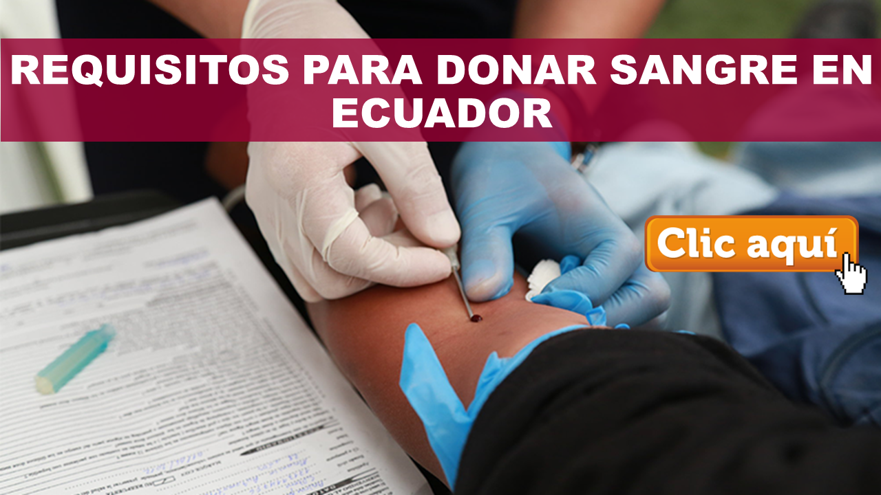 Requisitos para donar sangre en Ecuador