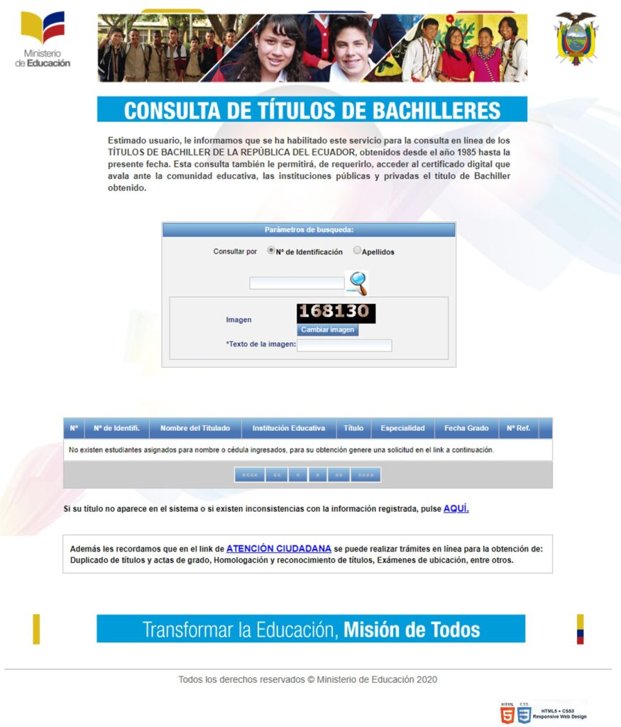 Link de descarga de título de Bachiller Ministerio de Educación