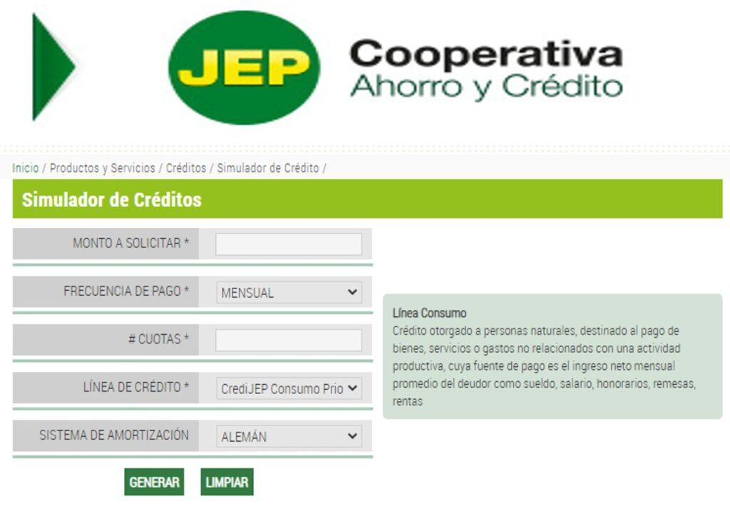 Requisitos para créditos en línea de la cooperativa JEP