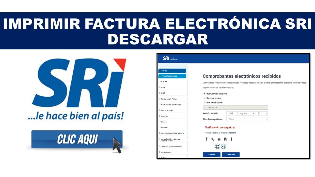 Imprimir factura electrónica sri – Descargar