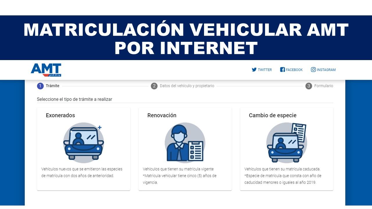 Matriculación Vehicular AMT por Internet