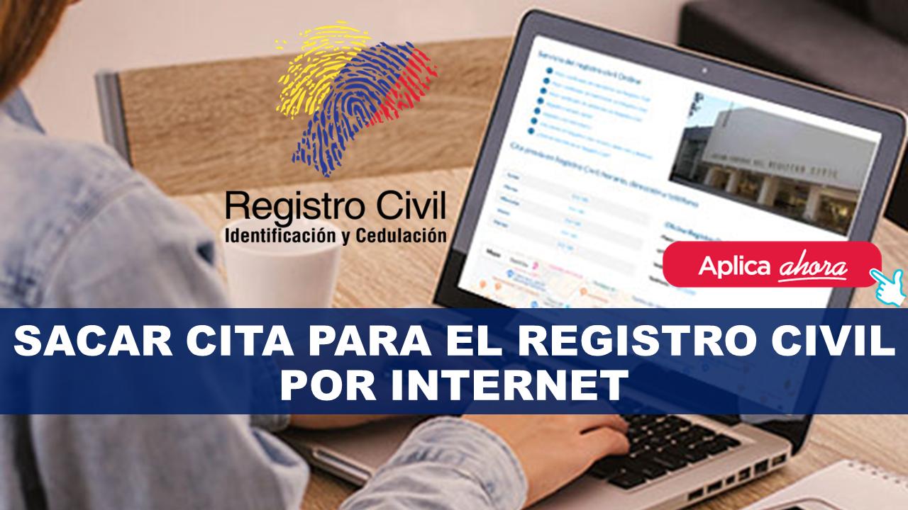 Sacar cita para el registro civil por Internet