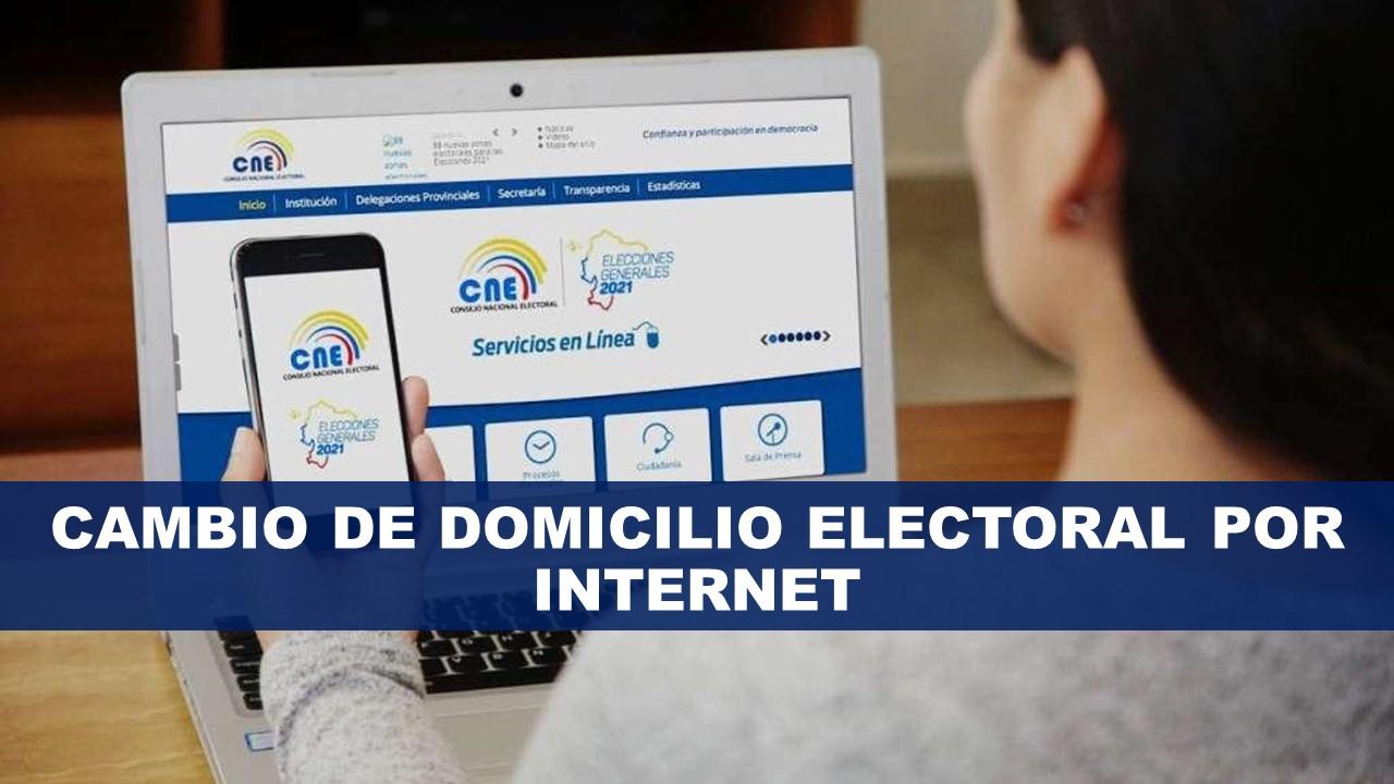 Cambio de Domicilio Electoral por Internet