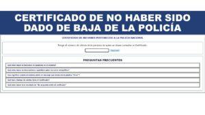 Certificado de NO haber sido dado de baja de la policía