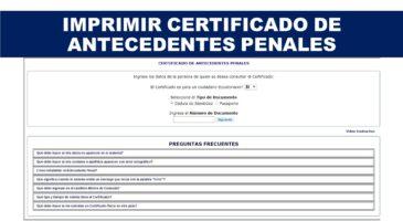 Imprimir Certificado de Antecedentes Penales
