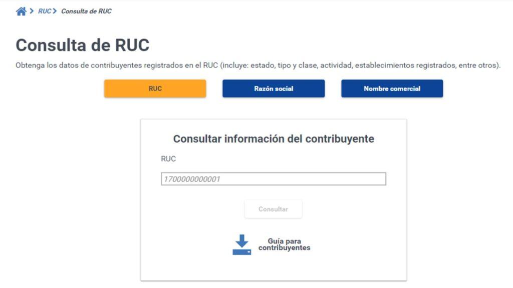 ¿Cómo saber mi RUC en Ecuador?