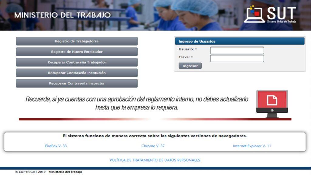 Registrar liquidación de trabajadores - Ministerio de Trabajo