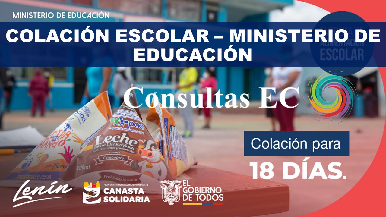 Colación escolar – Ministerio de Educación