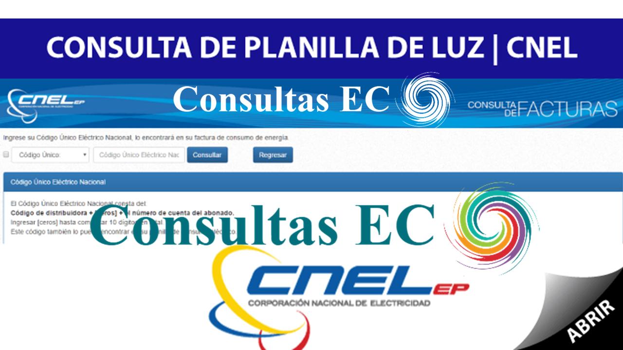 Guía para Consulta Planilla de CNEL por Internet