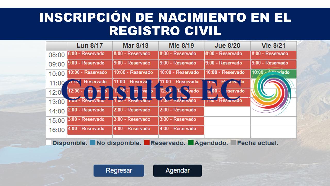 Inscripción de Nacimiento en el Registro Civil