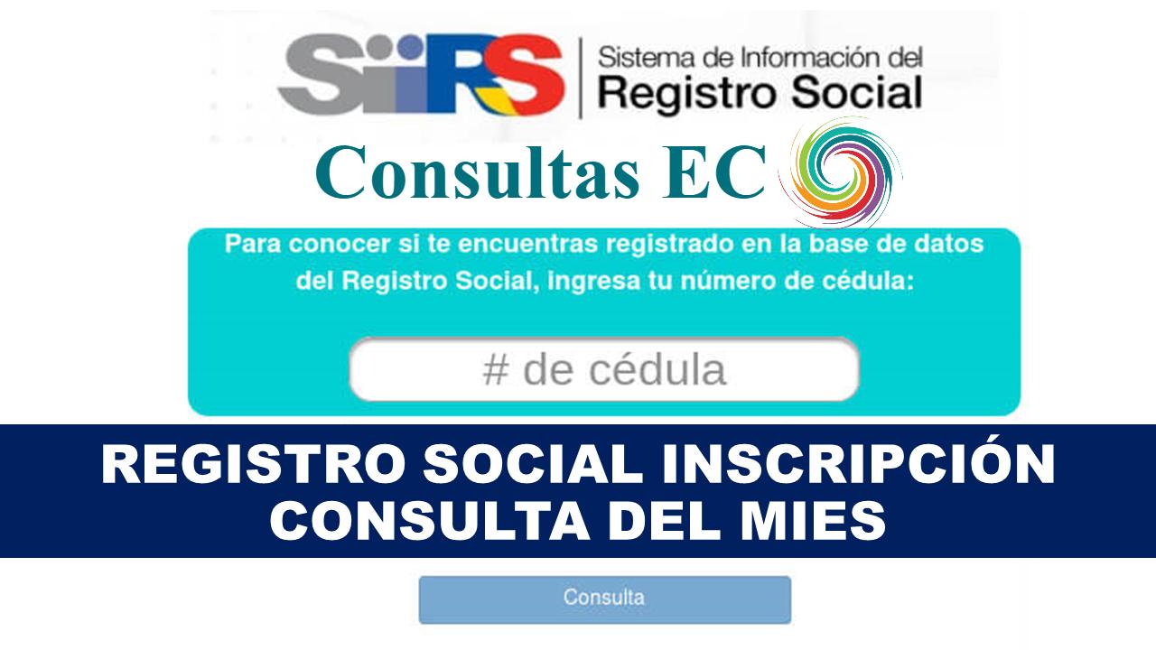 Registro Social Inscripción y Consulta del MIES