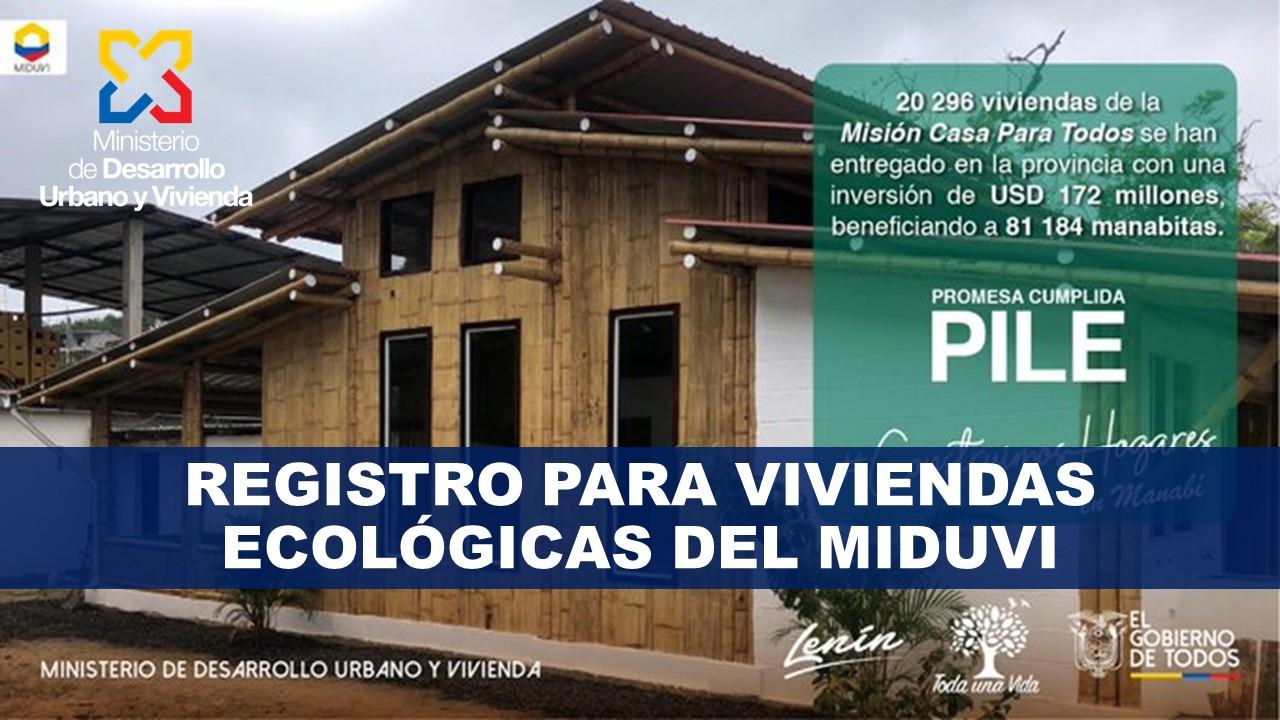 Registro para Viviendas Ecológicas MIDUVI
