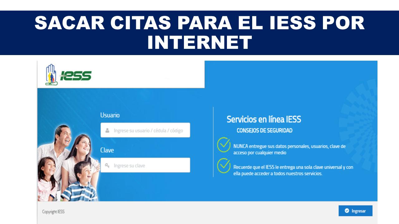 Sacar citas para el IESS por internet