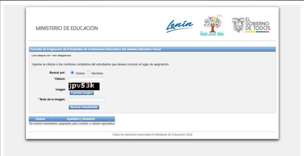 asignación de cupos costafase consulta asignación cupos webinscripciones para educacion inicial sierraministerio de educación