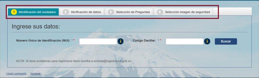 registro civil en línearegistro civil del ecuadordesbloquear cuenta registro civilrestaurar contraseña registro civilregistro civil en línea usuariosacar partida de nacimiento en línea - ecuador