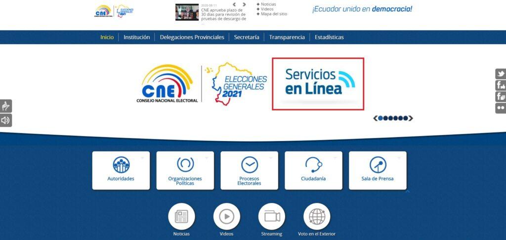 cne registrar usuariocne.gob.ec registrarsecne registrarseconsejo nacional electoral 2019