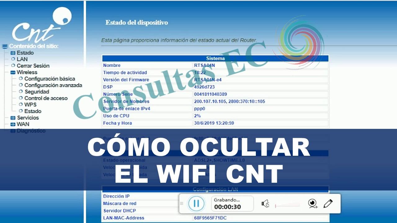 Cómo Ocultar el Wifi CNT