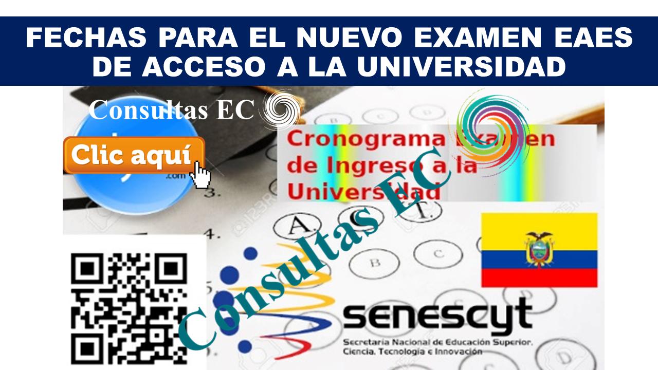 Fechas para el Nuevo Examen EAES de acceso a la universidad