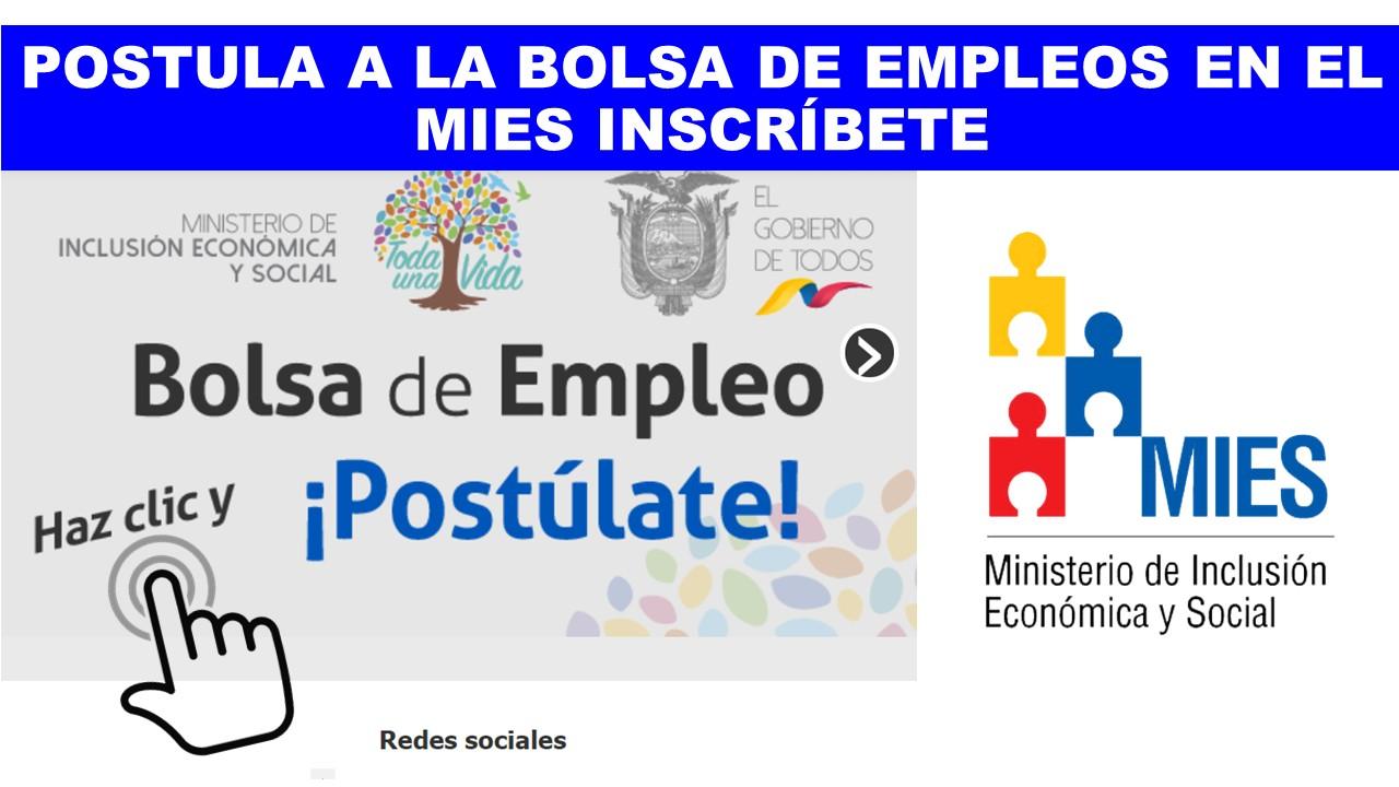 Inscripciones para la Bolsa de Empleo MIES