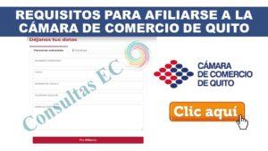 Requisitos para Afiliarse a la Cámara de Comercio de Quito