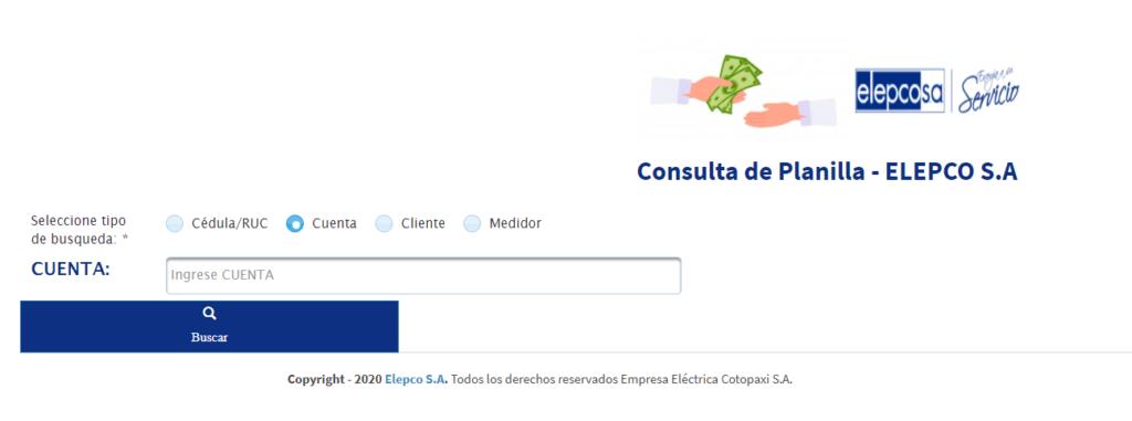 servicios en línea elepcocomo sacar la planilla de la luz de latacungaconsulta de planilla de luz elepco por número de cédulaservicios en línea elepcosa